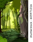 vector illustration of nature... | Shutterstock .eps vector #605971316