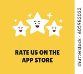 rate us on the app store... | Shutterstock .eps vector #605982032