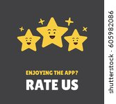 rating stars. flat design. user ... | Shutterstock .eps vector #605982086
