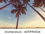 serenity tropical beach   Shutterstock . vector #605990426