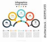 infographic design template... | Shutterstock .eps vector #605991455