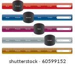 navigation menu   Shutterstock .eps vector #60599152