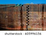 Old Rusty River Barge.