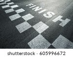sunny finish line pattern... | Shutterstock . vector #605996672
