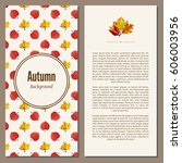banners set of autumn leaves...   Shutterstock . vector #606003956