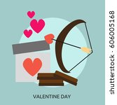 valentine day conceptual design | Shutterstock .eps vector #606005168