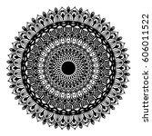 mandalas for coloring book.... | Shutterstock .eps vector #606011522