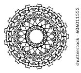 mandalas for coloring book.... | Shutterstock .eps vector #606011552