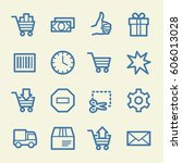 shopping web icons | Shutterstock .eps vector #606013028