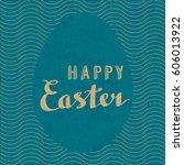 happy easter retro style...   Shutterstock .eps vector #606013922