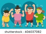 getting started an exercise.... | Shutterstock .eps vector #606037082