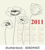 Calendar For 2011 With Poppy...