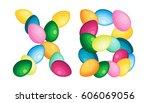 easter sign. christianity...   Shutterstock .eps vector #606069056