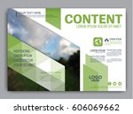 greenery brochure layout banner ... | Shutterstock .eps vector #606069662