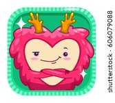 funny app icon with red fluffy...
