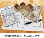 residence estimate calculator... | Shutterstock . vector #606082496