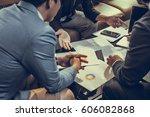 business man meeting  business... | Shutterstock . vector #606082868