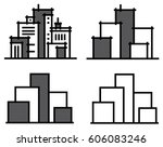 vector city buildings. | Shutterstock .eps vector #606083246