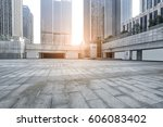 empty pavement and modern... | Shutterstock . vector #606083402