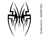 tattoo sketch tribal vector... | Shutterstock .eps vector #606087362
