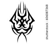 tattoo sketch tribal vector...   Shutterstock .eps vector #606087368
