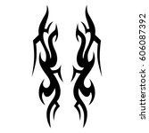 tribal tattoo art designs.... | Shutterstock .eps vector #606087392