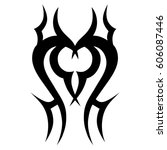 tribal tattoo art designs.... | Shutterstock .eps vector #606087446