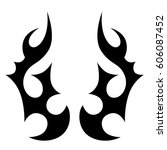 tattoo sketch tribal vector... | Shutterstock .eps vector #606087452