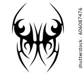 tattoo sketch tribal vector... | Shutterstock .eps vector #606087476