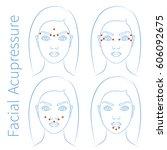 vector illustration  four hand... | Shutterstock .eps vector #606092675
