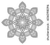 vector henna tatoo mandala....   Shutterstock .eps vector #606098096
