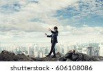 concept of risk and danger in... | Shutterstock . vector #606108086
