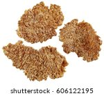 three bran flakes cut out | Shutterstock . vector #606122195