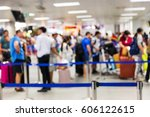 abstrack blur people check in...   Shutterstock . vector #606122615