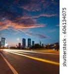 urban roads in the city | Shutterstock . vector #606134075