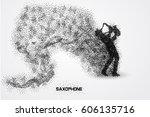 saxophone particle vector   Shutterstock .eps vector #606135716
