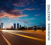 urban roads in the city | Shutterstock . vector #606137432