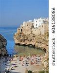 italy   polignano a mare  ... | Shutterstock . vector #606138086