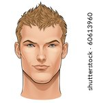 face of young man | Shutterstock .eps vector #60613960