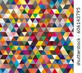 abstract geometric colorful... | Shutterstock . vector #606143795