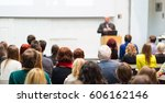 audience at the conference hall.... | Shutterstock . vector #606162146