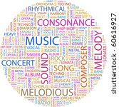 music. word collage on white... | Shutterstock .eps vector #60616927