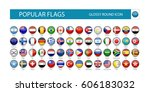 popular flags glossy round icon.... | Shutterstock .eps vector #606183032