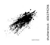 black paint ink splash ... | Shutterstock .eps vector #606194246