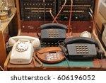 old vintage communication... | Shutterstock . vector #606196052