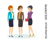 group of office workers. office ... | Shutterstock .eps vector #606198998