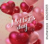 happy mothers day. vector... | Shutterstock .eps vector #606205055