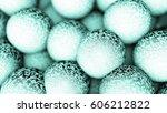 a lot of balls. 3d render... | Shutterstock . vector #606212822