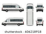 van vector template. isolated... | Shutterstock .eps vector #606218918
