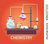 education and science concept... | Shutterstock .eps vector #606227222